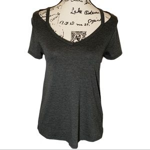 Modcloth XS Strappy Cap Sleeve Top Gray